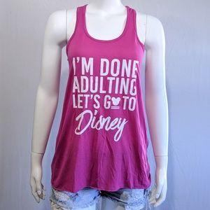 Bella + Canvas pink let's go to Disney tank top
